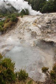 Furnas Hot Springs in the Azores Islands