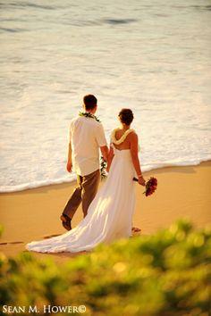 Post Wedding Beach Stroll by Sean M. Hower