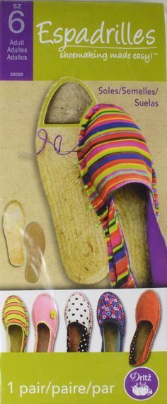Adult Espadrille Soles, size 6-50055 | Dritz Quilting, Sewing & Crafting Supplies