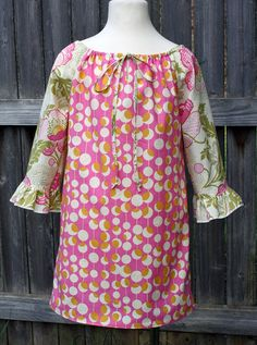 Fuchsia Modern Midwest Peasant Dress by fluffygirlboutique on Etsy, $34.99