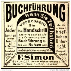 Original-Werbung/ Anzeige 1898 - BUCHFÜHRUNG / SIMON - BERLIN - ca. 45 x 45 mm