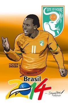 Estrella del fútbol de Costa de Marfil