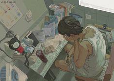 Pretty Art, Cute Art, Aesthetic Art, Aesthetic Anime, Illustrations, Illustration Art, Manga Art, Anime Art, Art Sketches