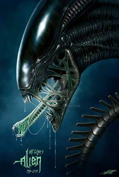 by on DeviantArt - Alien/Xenomorph Colored Pencil Drawing. by on DeviantArt Alien by JFoliveras Alien Vs Predator, Predator Movie, Predator Alien, Giger Art, Hr Giger, Arte Alien, Alien Art, Alien Creatures, Fantasy Creatures