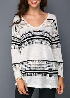 Tassel Detail Long Sleeve V Neck Sweater  37e6056f3