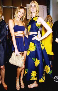 #Candice Swanepoel#Caroline Trentini Michael Kors Spring 2015
