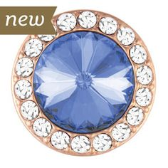 Magnolia and Vine # S1516 Rose Gold Audrey Light Blue Snap available at MyStyleInASnap.com