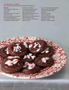Chocolate peppermint cookies - small batch --Sweet Paul Magazine - Holiday 2010 - Page 70-71