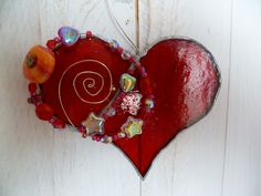 How to Make a Stained Glass Heart #stepbystep