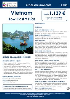 VIETNAM LOW COST 9 Días, desde 1.139 € + tasas - http://zocotours.com/vietnam-low-cost-9-dias-desde-1-139-e-tasas-2/