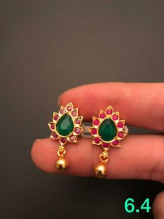 Indian Jewelry Earrings, Jewelry Design Earrings, Fashion Earrings, India Jewelry, Opal Earrings, Jewelry Necklaces, Gold Necklace, Gold Bangles Design, Gold Jewellery Design