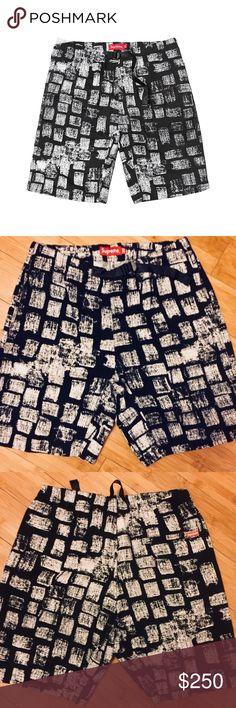 d55a1b30d0 Supreme CDG Block Print Belted Shorts SS14 New Never Worn Supreme Comme Des  Garcons black belted