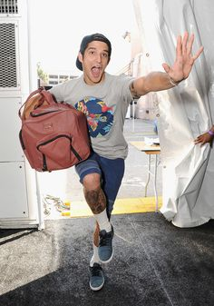 Tyler Posey got silly backstage at the Teen Choice Awards.