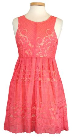 NEW Free People Womens Dress ROCCO Lace Babydoll Empire Waist Pink Sz 4 NWT $128 #FreePeople #EmpireWaist #Casual