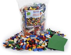 LP Toys 1000 Piece Building Blocks for Toddlers  Includes 54 Roof Pieces  Brick Build Toy in Various Colours and Sizes -- Click the VISIT button to find out more on this STEM educational item