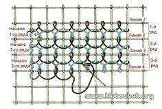 Заполнение воздушнопетельным швом нескольких рядов клеток по горизонтали