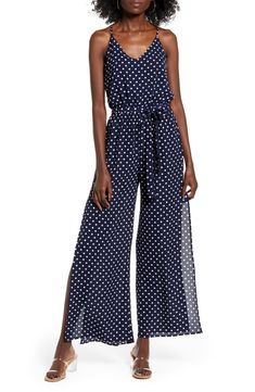 Chic One Clothing Sleeveless Tie Waist Jumpsuit Fashion Womens Clothing from top store Chiffon Maxi Dress, Satin Skirt, Jeans Dress, Jacket Dress, Fashion Forms, One Clothing, Printed Jumpsuit, Lace Bodysuit, Leggings Are Not Pants