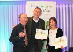 David Lloyd, the editor, Michael Rosen, the author and Helen Oxenbury, the illustrator. The dream team creators of We're Going on a Bear Hunt - celebrating its 25th anniversary this year!