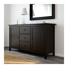 $299 - IKEA - HEMNES, Sideboard, white stain, , Solid wood has a natural feel.