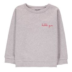 Bubble Gum Embroidered Sweatshirt Heather grey-product