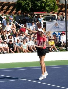 Alona Bondarenko plays tennis at...
