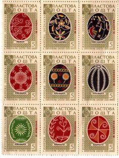 Pysanky stamps, Ukrainian Easter Eggs