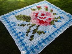 Apple Blossom Dreams: La Vie en Rose Afghan AND Border Pattern Listed!