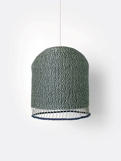 Braided Lampshade - Dusty Green - Tall by ferm LIVING Kids