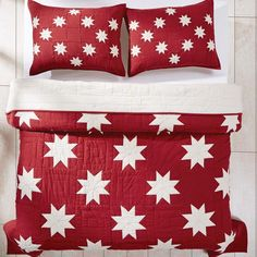 Bring a country Christmas style to your bedroom decor when you cover your bed with any of our Kent quilts. They come in 4 sizes here at the Quilt Shop.