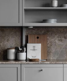 TDC: Understated elegance in grey, beige and brown Beige Kitchen, Ikea Kitchen, Kitchen Pantry, Kitchen Decor, Brown Kitchen Interior, Kitchen Cabinets, Kitchen Walls, Kitchen Layout, Brown Kitchens