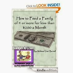Free Kindle Book - How to feed a family on $200