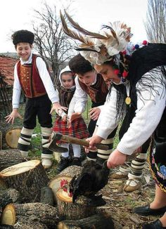 Rooster's day (Petlyovden) Children participate in the Bulgarian ritual slaughter of a Rooster on Rooster's Day. Photo by Anton Stoyanov. Generally celebrated on 2 February - This Bulgarian folk holiday tradition is celebrated in some regions.