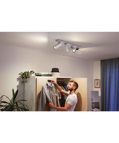 Kjøp Buratto Taklampe 4xBar/Tube Alu - Philips Hue her. NO's største utvalg av designer lamper. Alltid rask levering, 100 dagers returett og prisgaranti! Philips Hue, 5 W, Led Lamp, Mirror, Luminous Flux, Light Switches, Leaving Home, Led Lights Bulbs, Spot Lights
