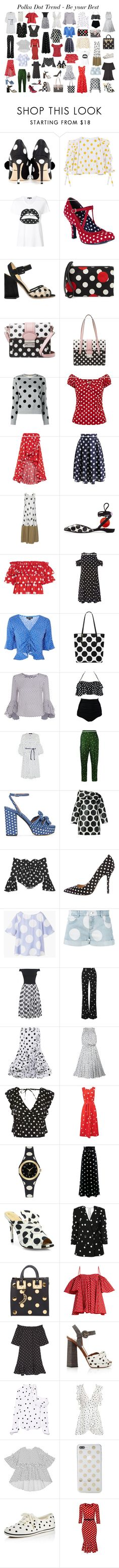"""""""Polka Dot Trend"""" by gabriela2105 ❤ liked on Polyvore featuring Dolce&Gabbana, Caroline Constas, Markus Lupfer, Ruby Shoo, Charlotte Olympia, RED Valentino, Chicwish, Maison Margiela, Pierre Hardy and Dorothy Perkins"""