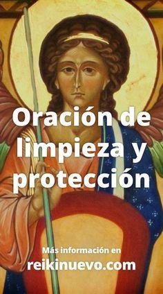 Oración de limpieza y protección. Pídele con esta oración al Arcángel Miguel que limpie y proteja tu casa de energías densas. Escucha la oración en: https://www.reikinuevo.com/oracion-limpieza-proteccion/