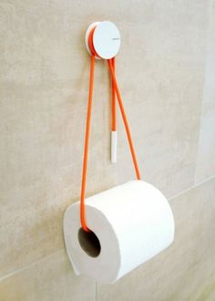 Quick Fixes: Inventive Toilet Paper Storage Diabolo Toilet Paper Holder by Yang:Ripol Design Studio for Vandiss; RemodelistaDiabolo Toilet Paper Holder by Yang:Ripol Design Studio for Vandiss; Bathroom Gadgets, Toilet Paper Storage, Primitive Bathrooms, Roll Holder, Blog Deco, Deco Design, Bathroom Accessories, Inventions, House Design