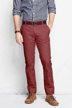Canvas Lands' End Men's Jeanos 608 Slim Fit Pants in vintage brick Burgundy Pants Men, Burgundy Chinos, Burgundy Pants Outfit, Chinos Men Outfit, Mens Dress Pants, Slim Fit Pants, Workout Pants, Workout Outfits, Casual Outfits