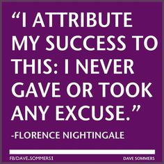 No excuses... good old Flo