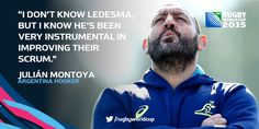 QUOTE OF THE DAY: Julian Montoya on #AUS 's scrum, in the hands of Argentine forwards coach Mario Ledesma: