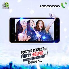 Capture the best party selfie with Videocon Delite 11 loaded with Selfie LED Flash. Explore - https://www.videoconmobiles.com/delite11-v50ma