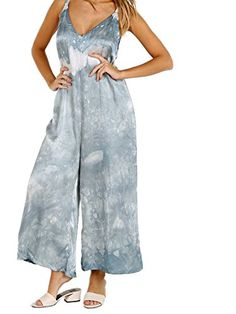 LACAUSA Santi Jumpsuit Crystal Wash   #FreedomOfArt  Join us, SUBMIT your Arts and start your Arts Store   https://playthemove.com/SignUp