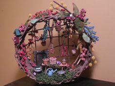 Fairy HousesMiniature Houses Woodland Fairy by VintageFairyFields, $40.00