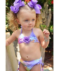 Look what I found on #zulily! Purple Butterfly Bikini - Infant, Toddler & Girls by Babi-Kini #zulilyfinds