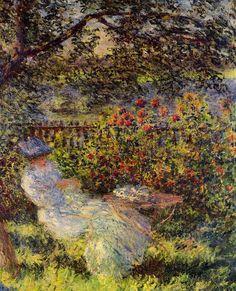 Claude Monet — Alice Hoschede in the Garden via Claude Monet