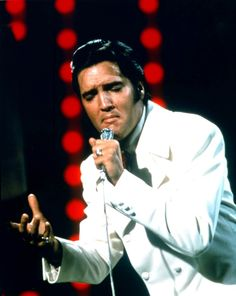 'If I Can Dream'  Elvis Presley during filming of the NBC-TV Special in 1968