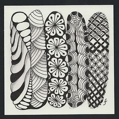 This Zentangle looks like surfboards lined up against the wall! <3