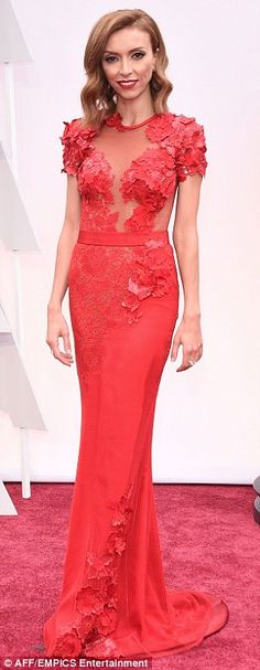 In 2015: Rancic wore red for the Oscars last year; after the show she criticized Zendaya on Fashion Police saying her hair looked like it smelled of weed