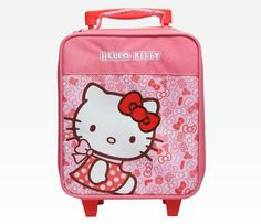 Hello Kitty Mini Rolling Luggage: Pinktone