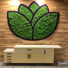 Moss Wall Art, Moss Art, Diy Wall Art, Wall Decor, Moss Decor, Lobby Design, Plant Art, Hospitality Design, Office Decor