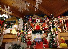 Santa display at Bronner's Christmas store